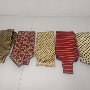 Tommy Hilfiger Men's Ties Lot of 5 Red and Yellow